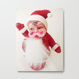 Vintage Santa | Pop Art Kitsch Photograph Metal Print
