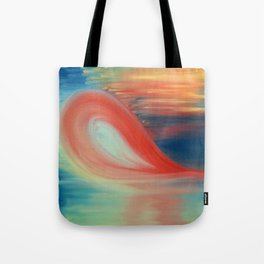 """The power of heart"" Original oil finger painting by Monika Toth Tote Bag"
