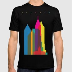 Shapes of Atlanta. Accurate to scale LARGE Mens Fitted Tee Black