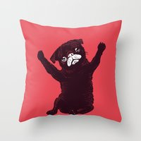 hug Throw Pillows featuring Hug by Huebucket