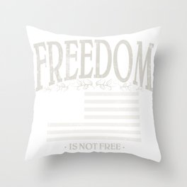 Freedom Is Not Free | American Conservatism | Liberty - Vintage Throw Pillow