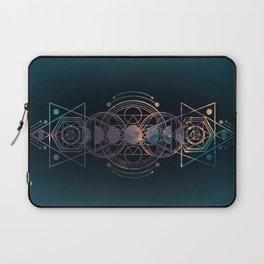 Dark Moon Phase Nebula Totem Laptop Sleeve