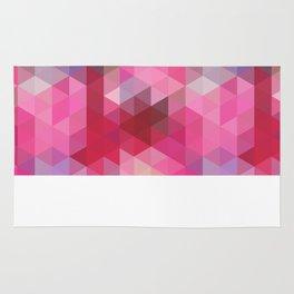 Positive Vibes Pink Geometric Print Rug