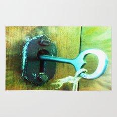 heart key Rug