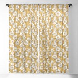 Small Harry Sunflower Shirt Flower Print Hippie Pop Art Floral Pattern Sheer Curtain
