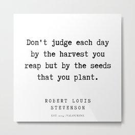1  | Robert Louis Stevenson Quotes | 200113 Metal Print