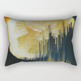 Lemony Good Glitch Rectangular Pillow