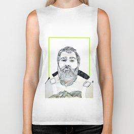 Man with a beard Biker Tank
