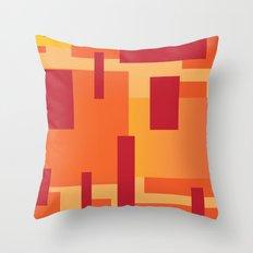 Fire Sun  Throw Pillow