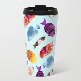 Fish shaped Flowers Travel Mug
