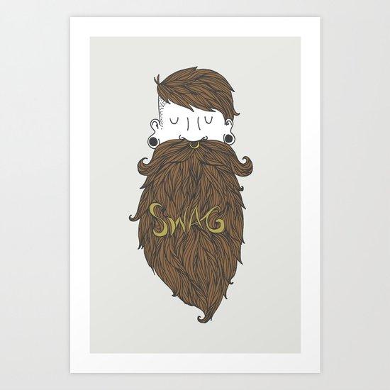 Beard Swag (Highlights) Art Print