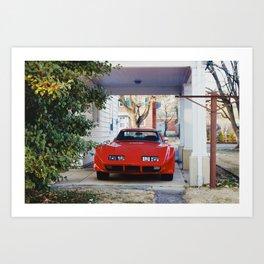 Red Sports Car Art Print