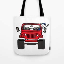 Jeep Wave Boy - Red Tote Bag