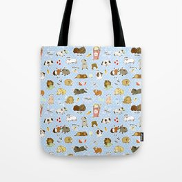 Guinea Pig Party! - Cavy Cuddles and Rodent Romance Tote Bag