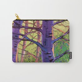 Poplars in winter at the sunset Carry-All Pouch