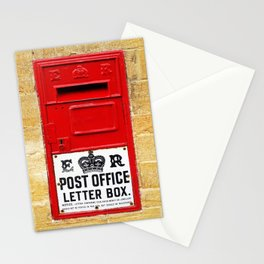 Old British Post Box Stationery Cards