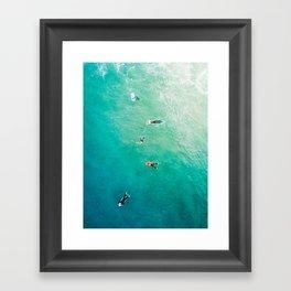 Five Surfers v2 Framed Art Print