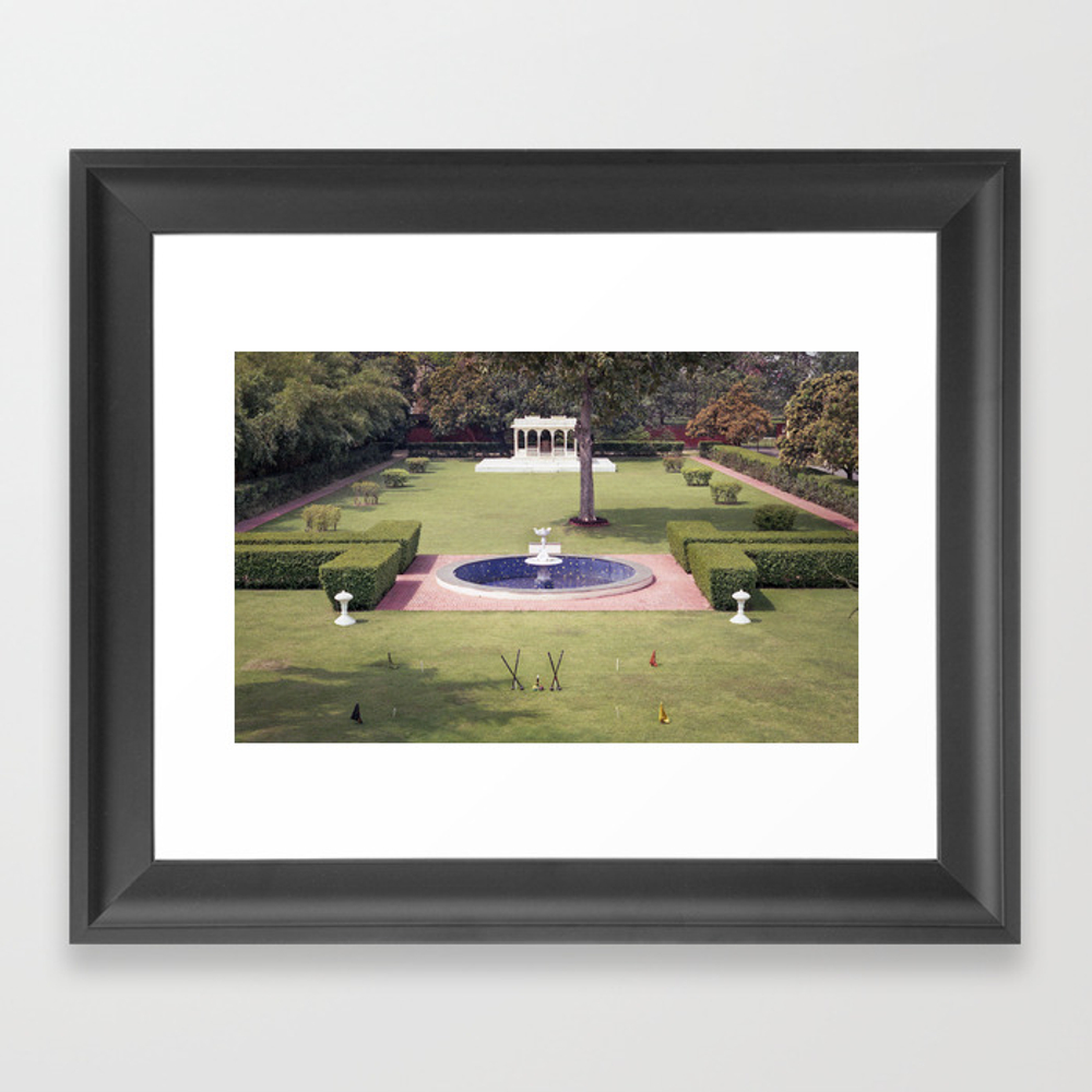 Croquet At The Palace Framed Art Print by Signahelen FRM8535238