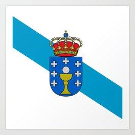 flag of Galicia Art Print