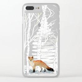 FOX FOX FOX Clear iPhone Case