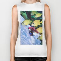 skiing Biker Tanks featuring Water Skiing by John Turck