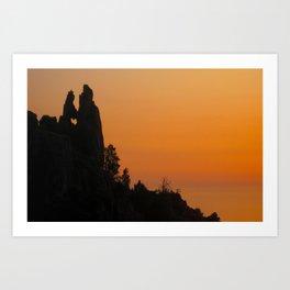 Corsican Sunset Art Print