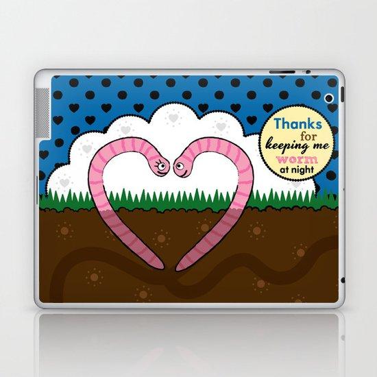 Lovebugs - Thanks for keeping me worm at night Laptop & iPad Skin