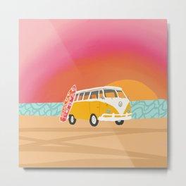 Surf road trip Metal Print