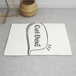 Dad Love Cat Fathers Day Cat Lover Pet Love Gifts Rug