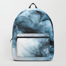Blue Ice Phoenix Abstract Flow Painting Backpack