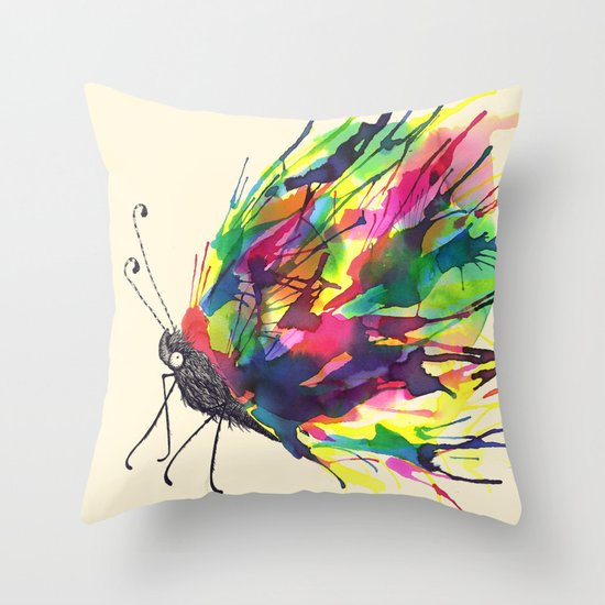 From a Black cocoon Throw Pillow