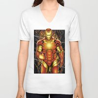 iron man V-neck T-shirts featuring Iron man by Fathi