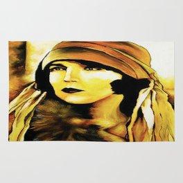 Lady in Fur. Rug