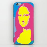 mona lisa iPhone & iPod Skins featuring Mona Lisa by Becky Rosen