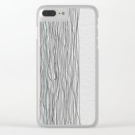 Digital Lines Clear iPhone Case