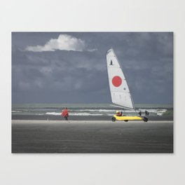 le rouge et le jaune Canvas Print
