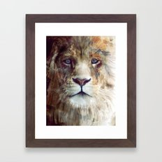 Lion // Majesty Framed Art Print