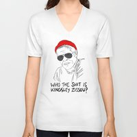 life aquatic V-neck T-shirts featuring The Life Aquatic - Klaus by Stewart Chown