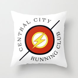 Central City running club Throw Pillow
