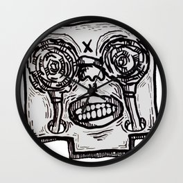 Mr. K descend into hell. Wall Clock