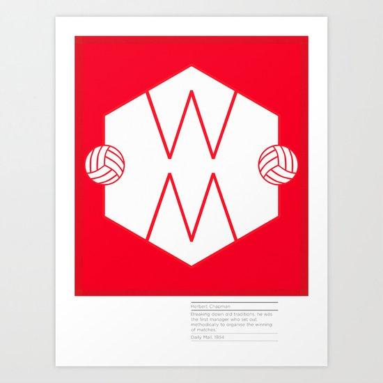 Herbert Chapman - Inventor of the WM Formation & legendary Manager of Arsenal FC Art Print