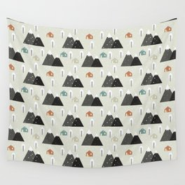Winter Mountain Wall Tapestry