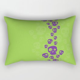 Skulls Fun - purple/green Rectangular Pillow