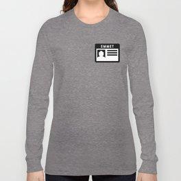 Emmet Nametag - Lego movie Long Sleeve T-shirt