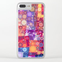 Harlequin Bubbles Clear iPhone Case