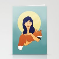 kitsune Stationery Cards featuring Kitsune by Sweet Demise Designs