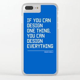 You can design everything Clear iPhone Case