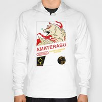 okami Hoodies featuring NES Okami by IF ONLY