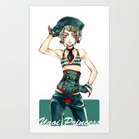 yaoi Art Prints featuring Yaoi Princess Sailor by SpaceMonolith