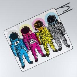 CMYK Spacemen Picnic Blanket